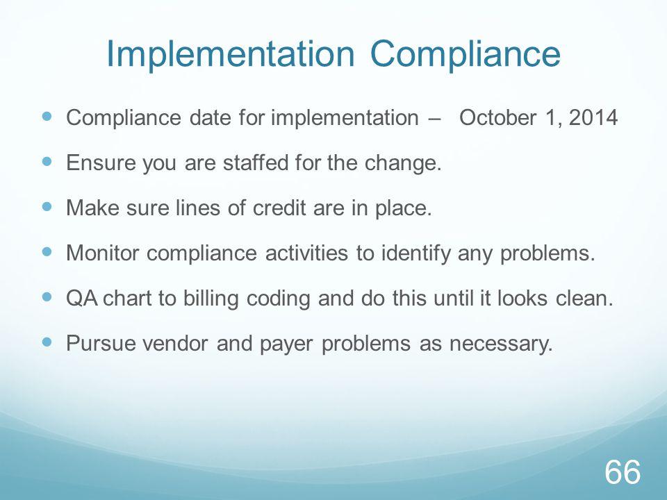 Implementation Compliance