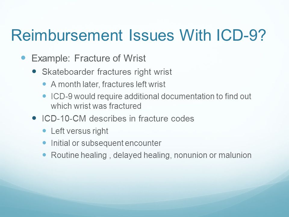 Reimbursement Issues With ICD-9