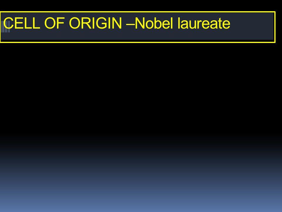 CELL OF ORIGIN –Nobel laureate