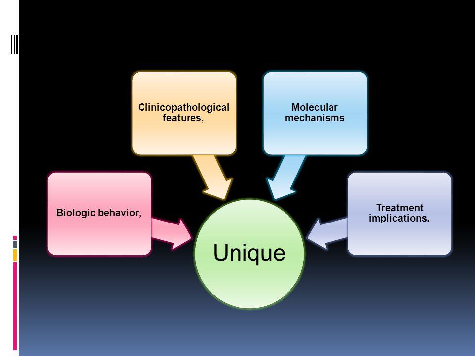 Clinicopathological features, Treatment implications.