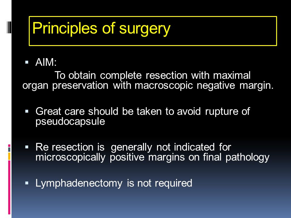 Principles of surgery AIM: