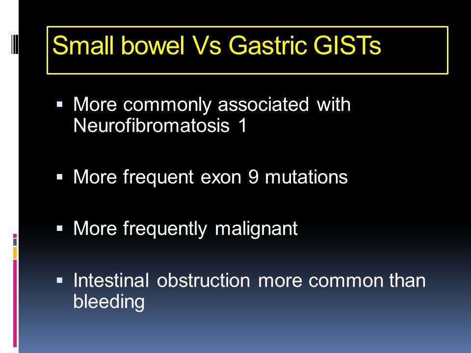 Small bowel Vs Gastric GISTs