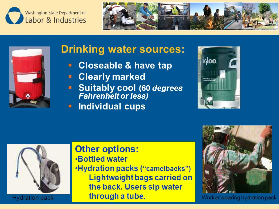 Drinking water sources: