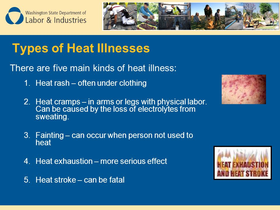 Types of Heat Illnesses