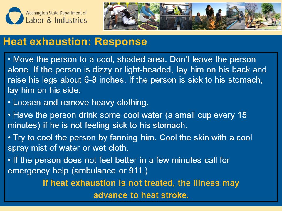 Heat exhaustion: Response