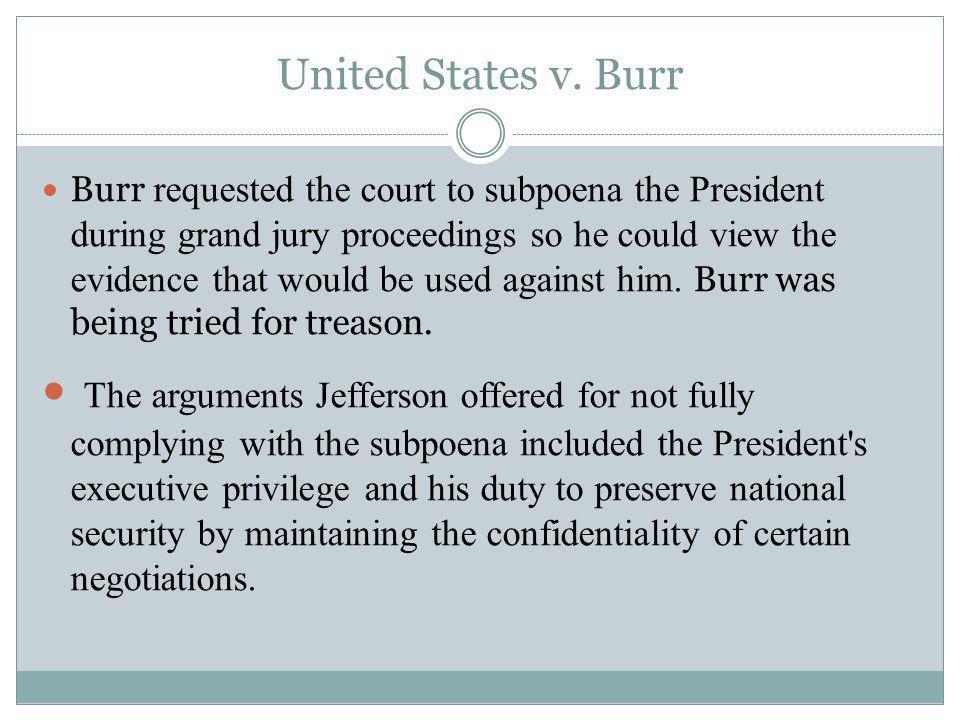 United States v. Burr