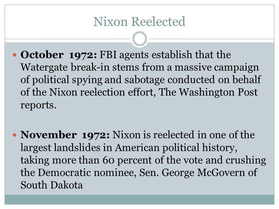 Nixon Reelected