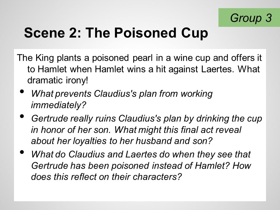 Scene 2: The Poisoned Cup