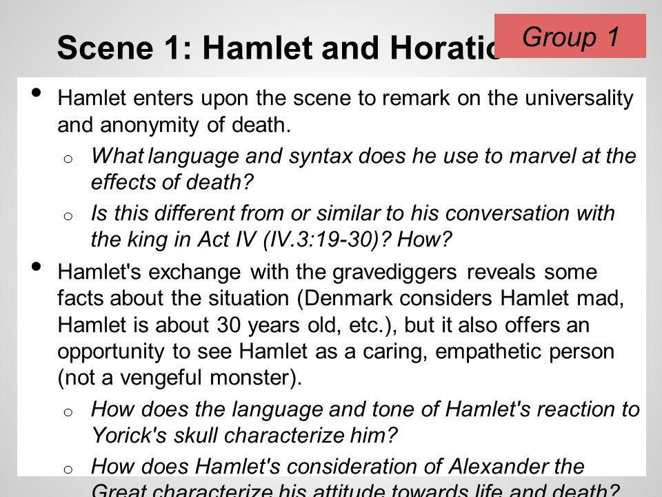 Scene 1: Hamlet and Horatio