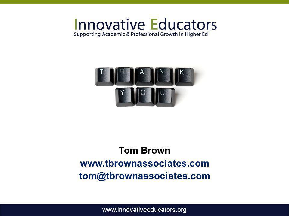 Tom Brown www.tbrownassociates.com