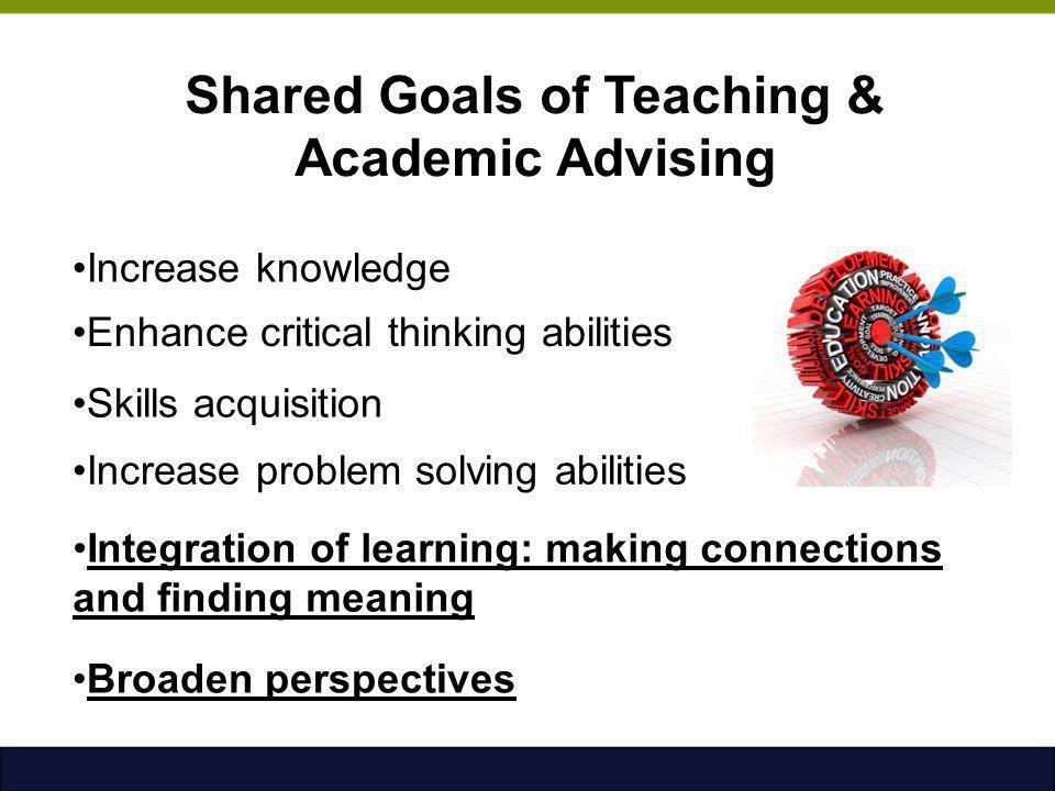 Shared Goals of Teaching & Academic Advising