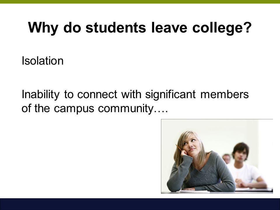 Why do students leave college