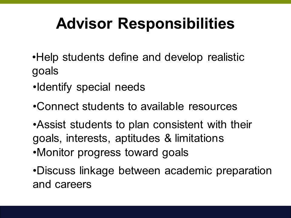 Advisor Responsibilities