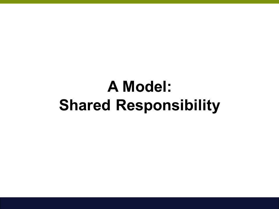 A Model: Shared Responsibility