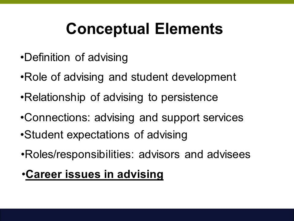 Career issues in advising