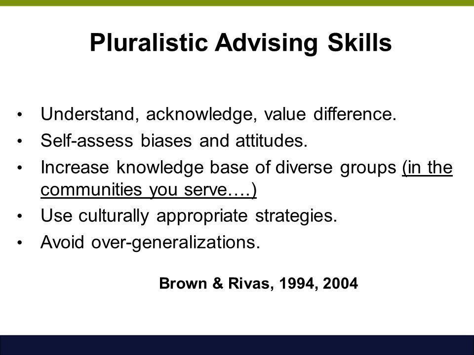 Pluralistic Advising Skills