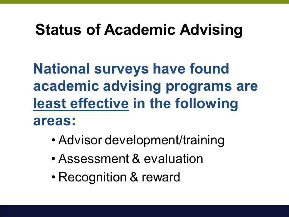 Status of Academic Advising