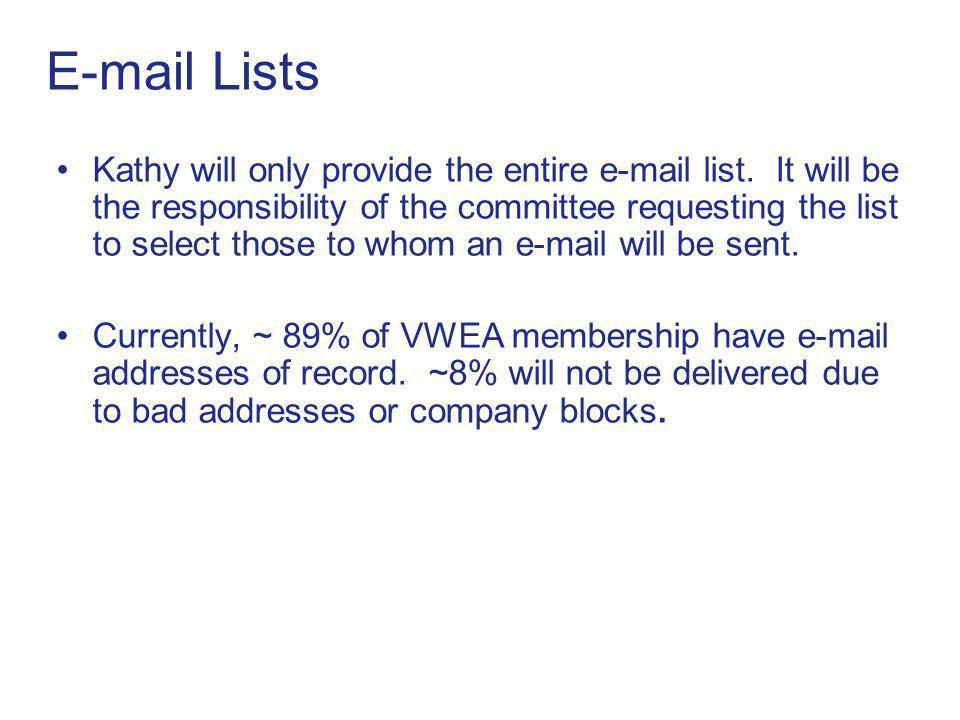 E-mail Lists