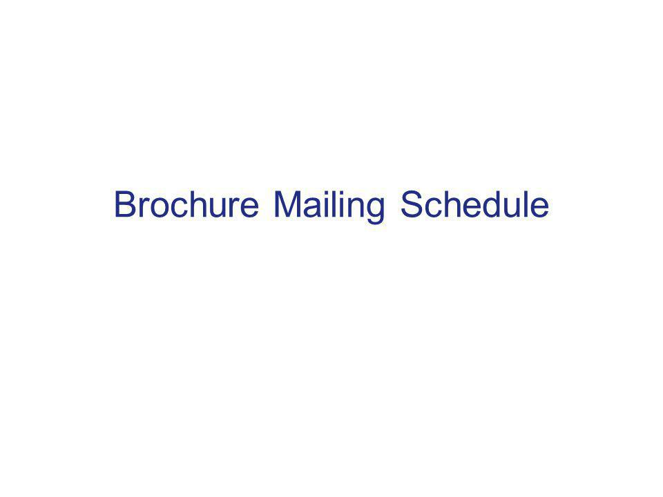Brochure Mailing Schedule