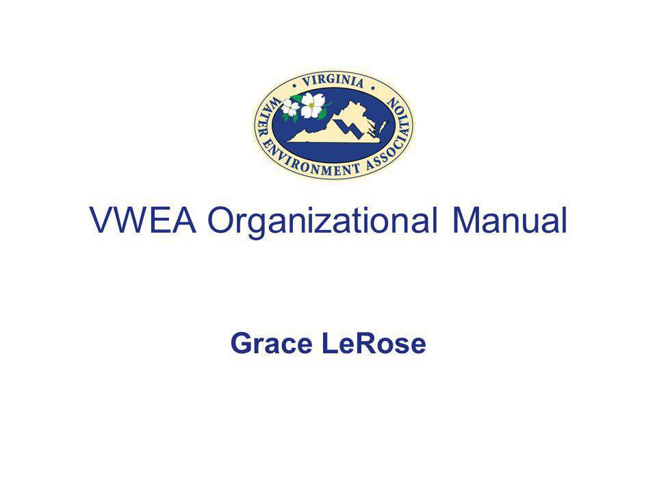 VWEA Organizational Manual