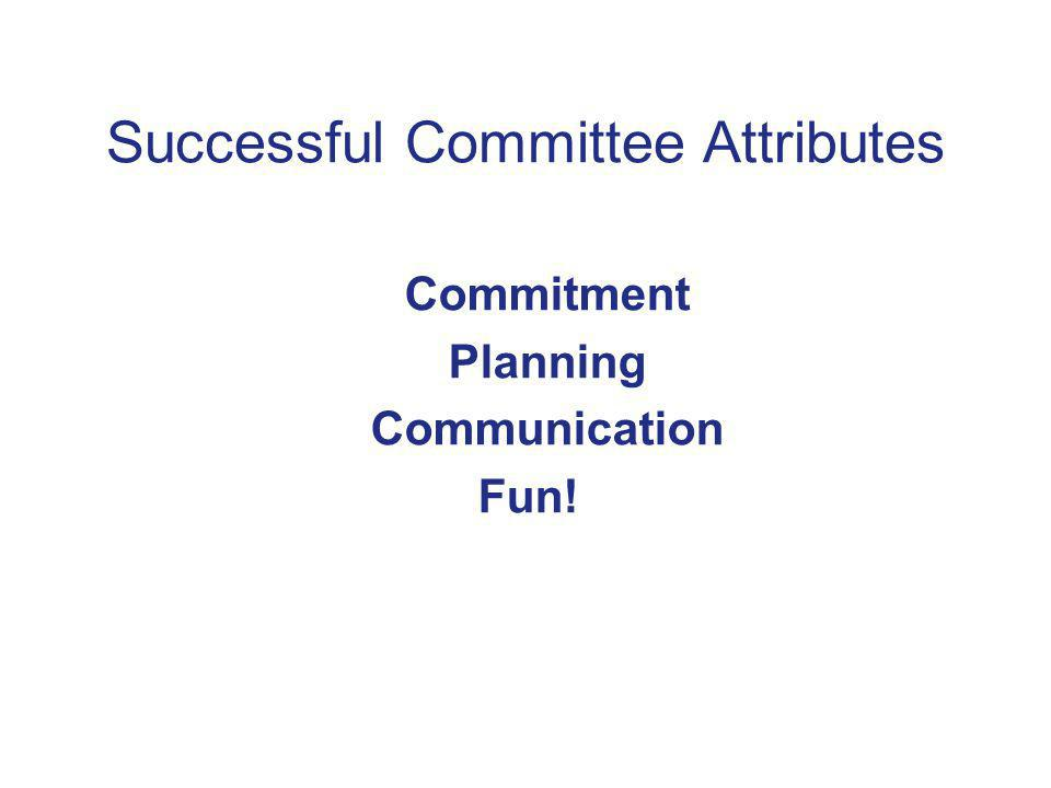 Successful Committee Attributes