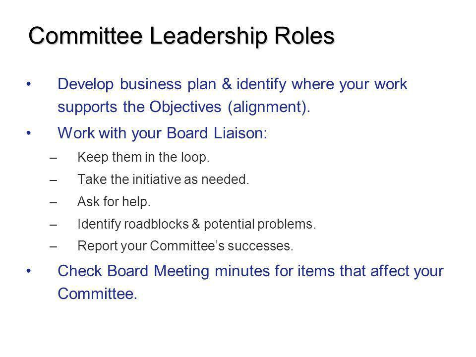 Committee Leadership Roles