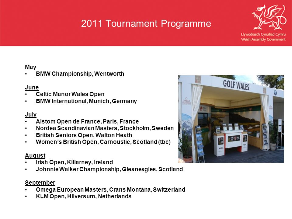 2011 Tournament Programme May BMW Championship, Wentworth June
