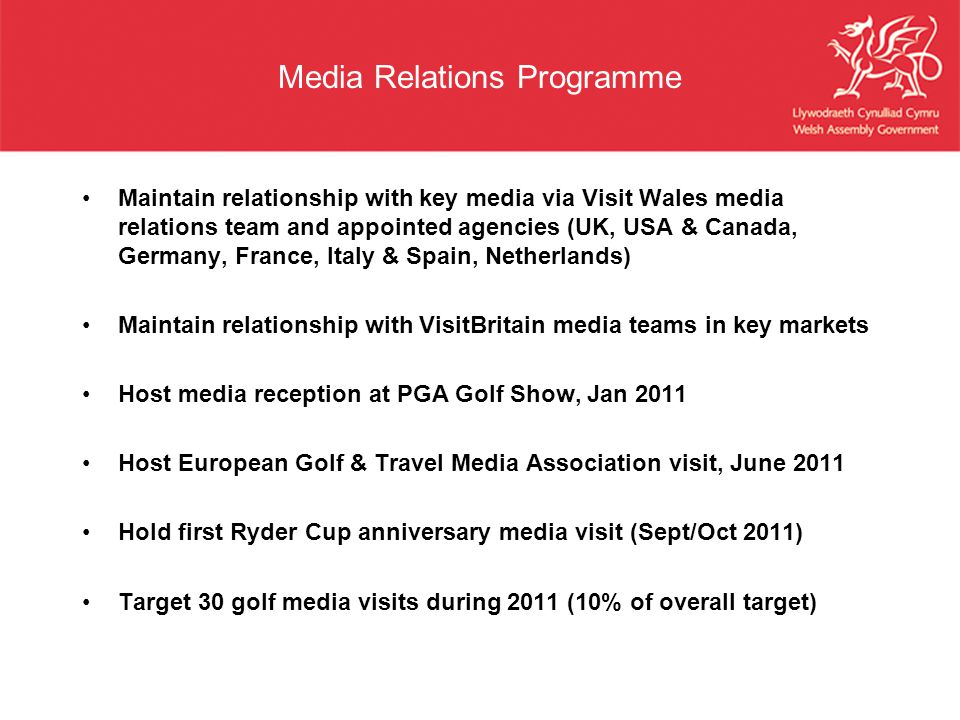 Media Relations Programme