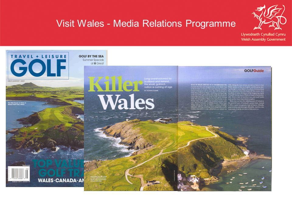 Visit Wales - Media Relations Programme