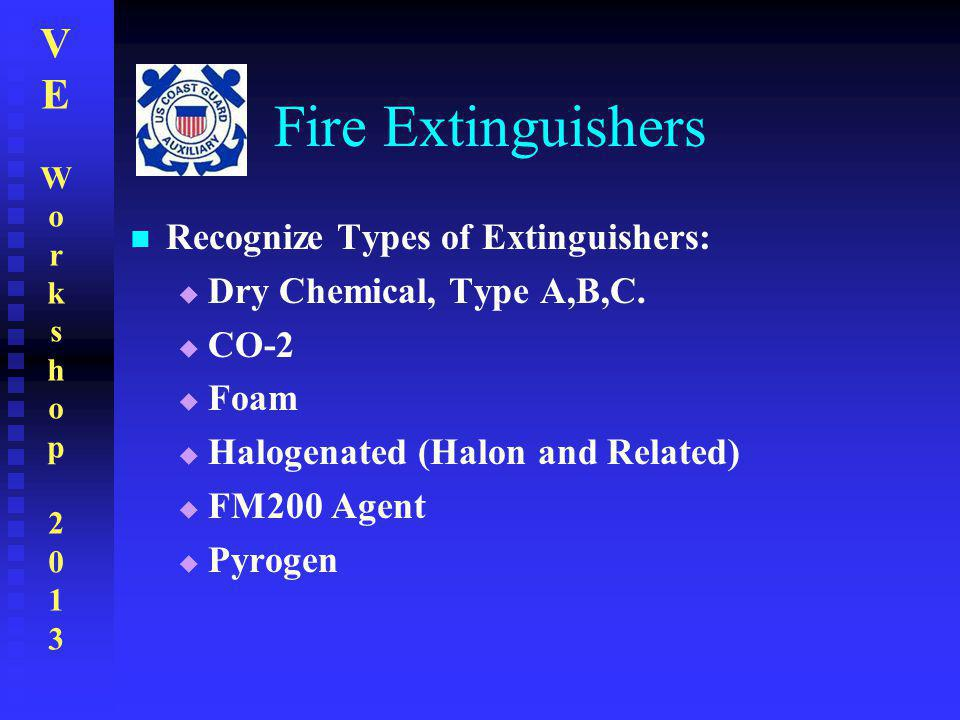 Fire Extinguishers Recognize Types of Extinguishers: