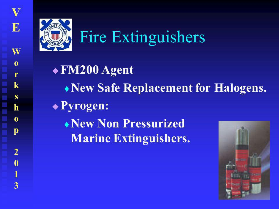 Fire Extinguishers FM200 Agent New Safe Replacement for Halogens.