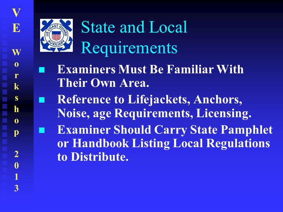 State and Local Requirements