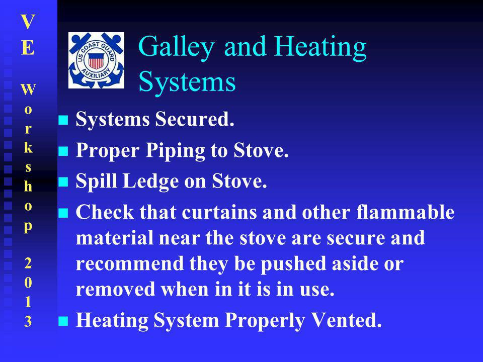 Galley and Heating Systems