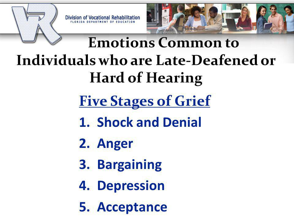Emotions Common to Individuals who are Late-Deafened or Hard of Hearing