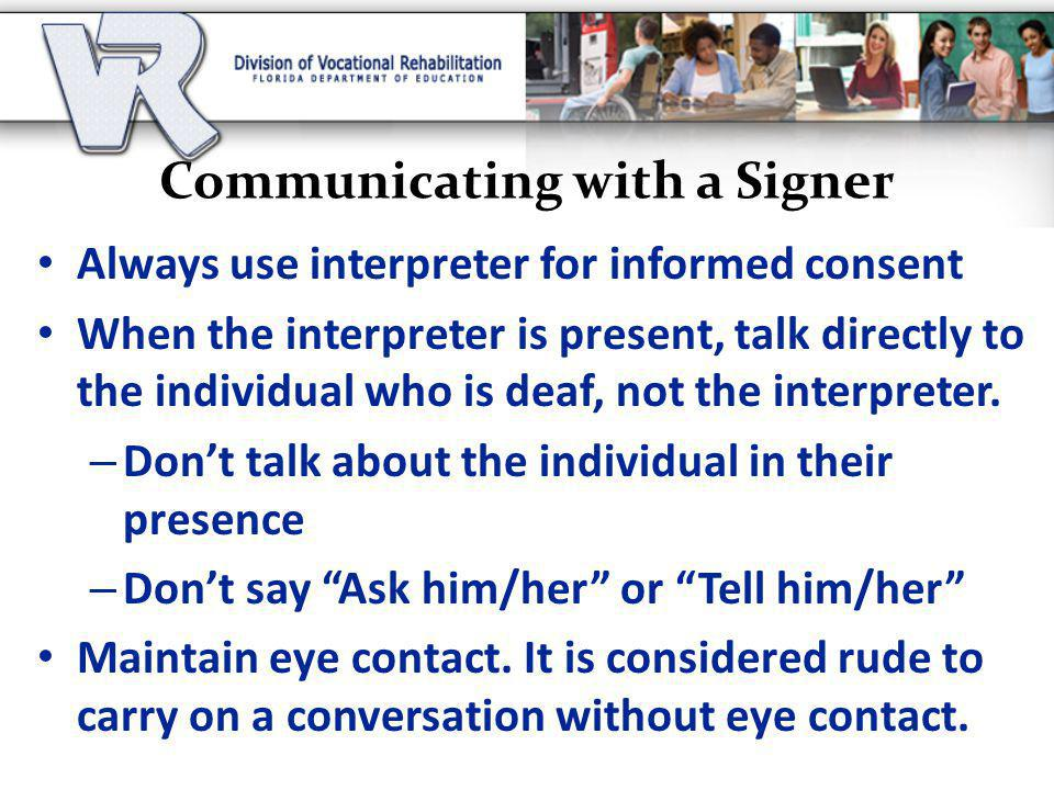Communicating with a Signer