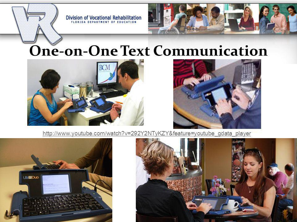 One-on-One Text Communication