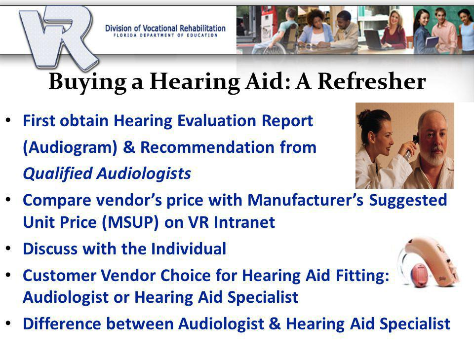 Buying a Hearing Aid: A Refresher