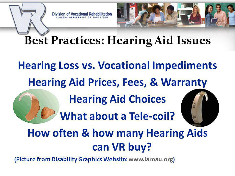 Best Practices: Hearing Aid Issues