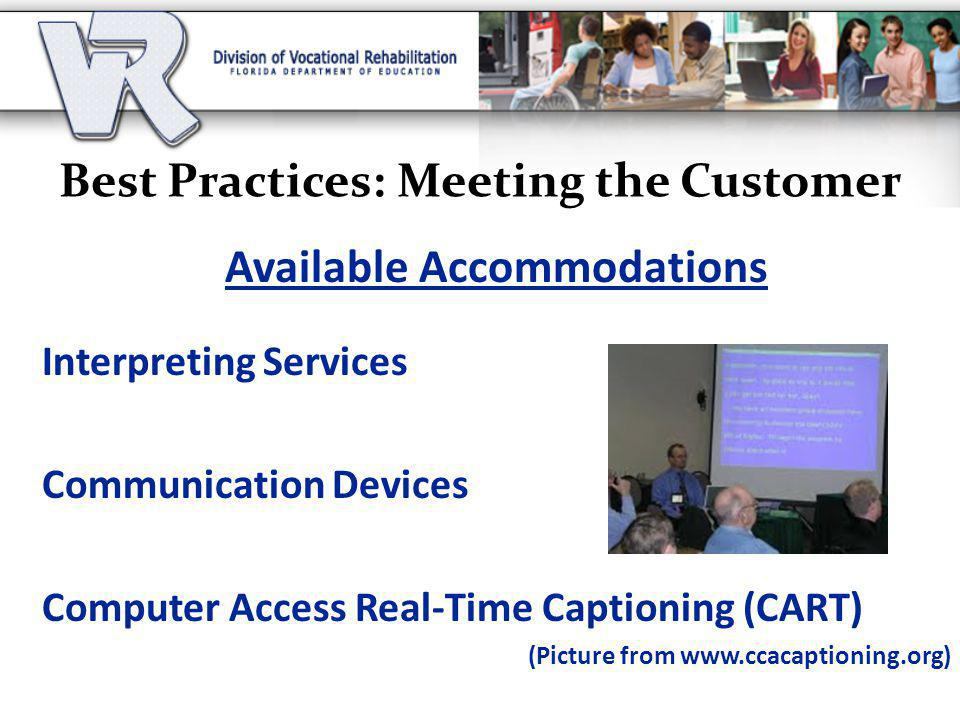 Best Practices: Meeting the Customer