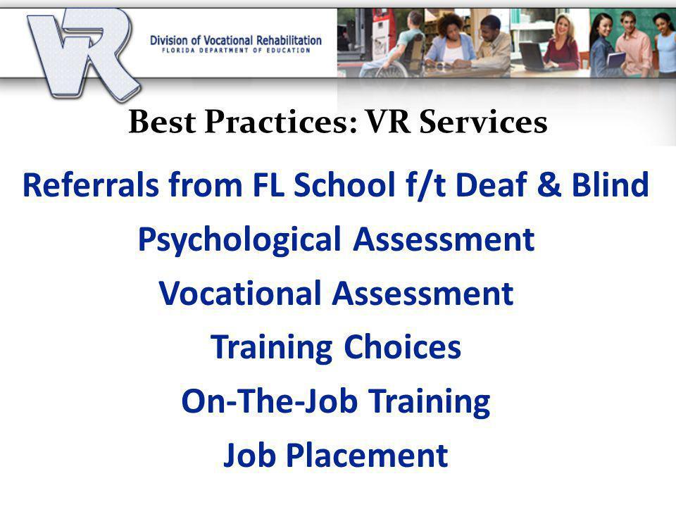Best Practices: VR Services