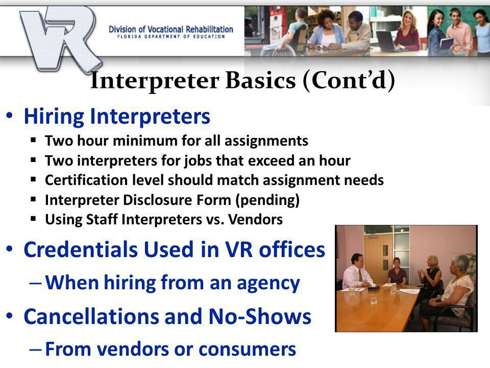 Interpreter Basics (Cont'd)