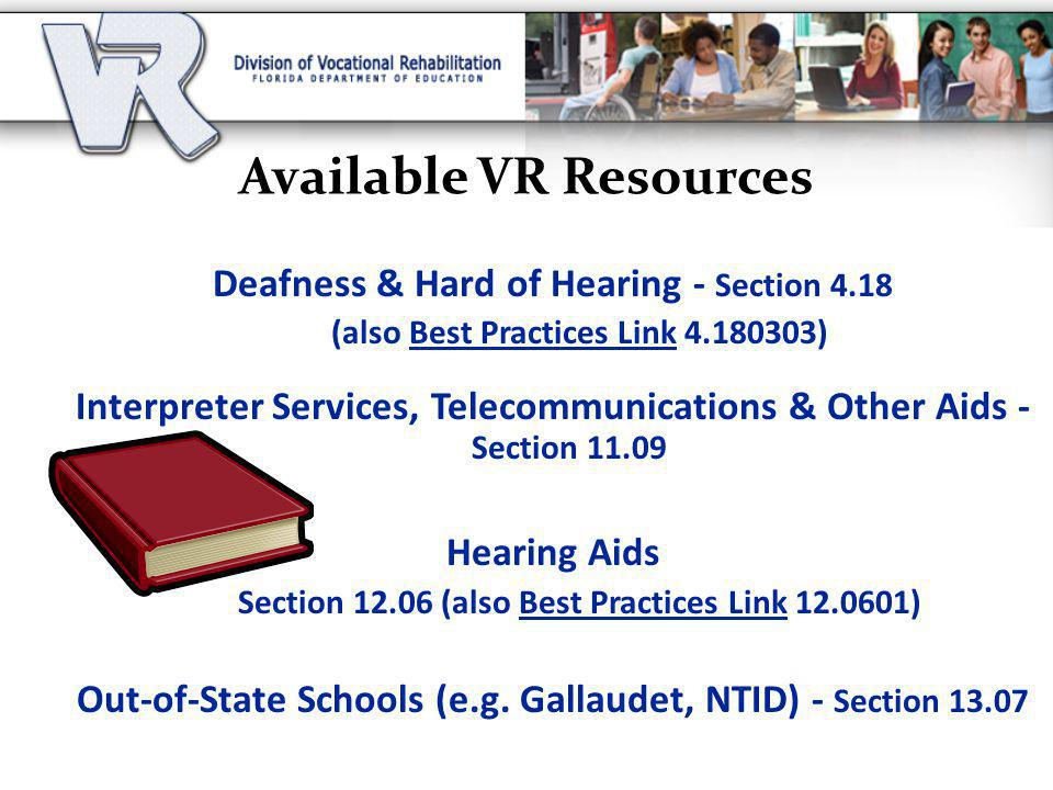 Available VR Resources