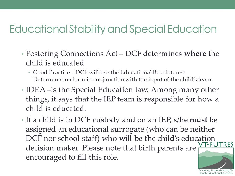 Educational Stability and Special Education