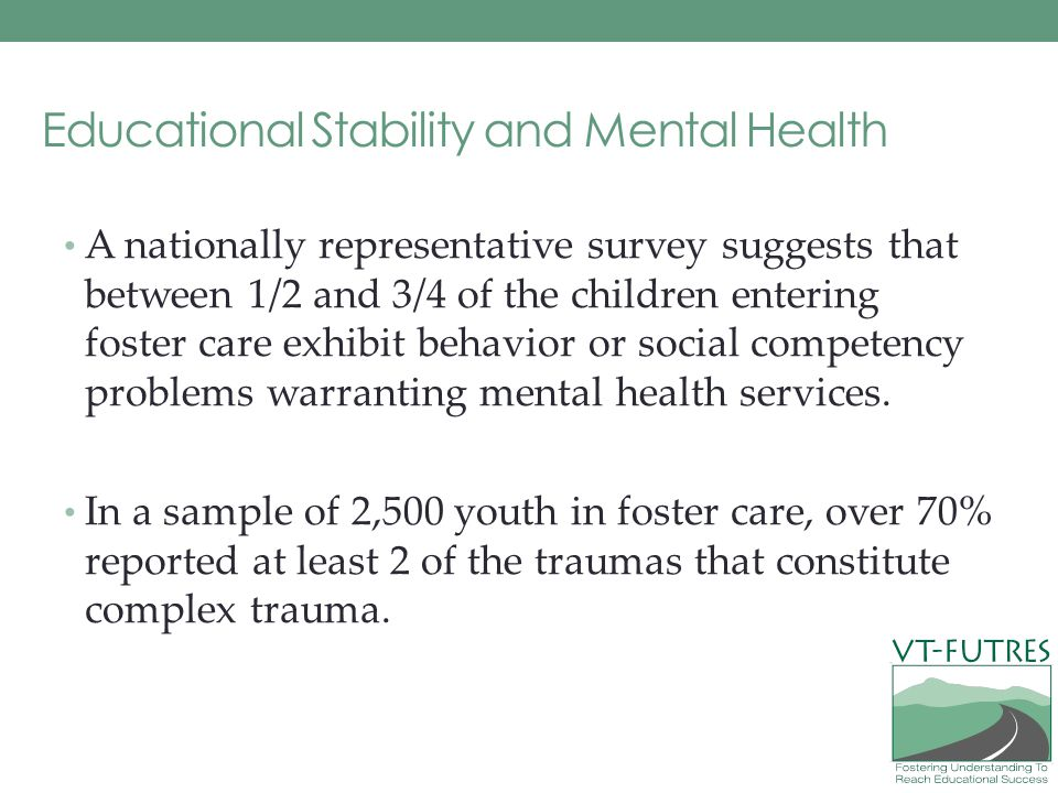 Educational Stability and Mental Health