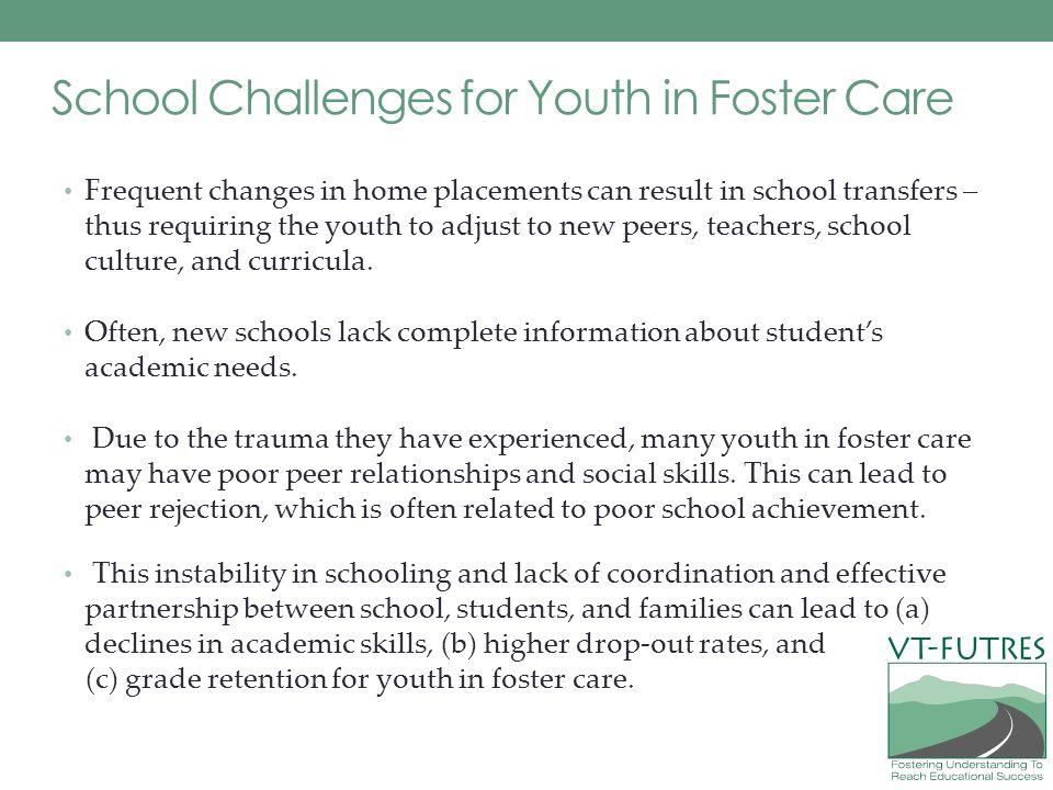 School Challenges for Youth in Foster Care