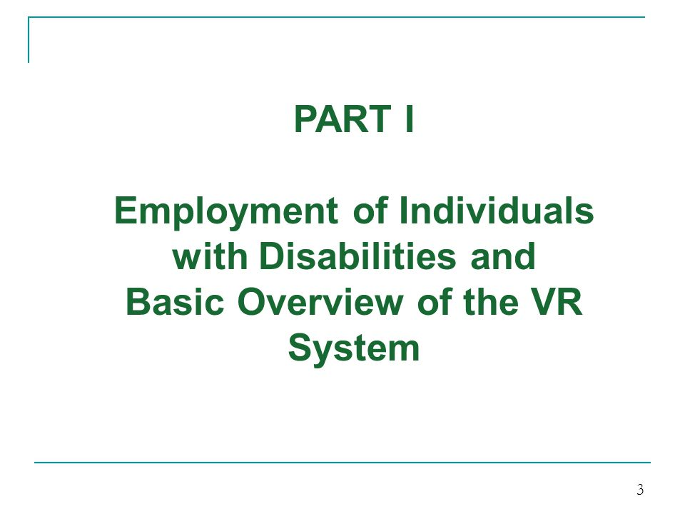 Employment of Individuals with Disabilities and