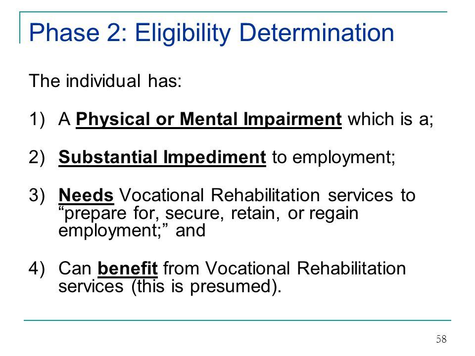 Phase 2: Eligibility Determination