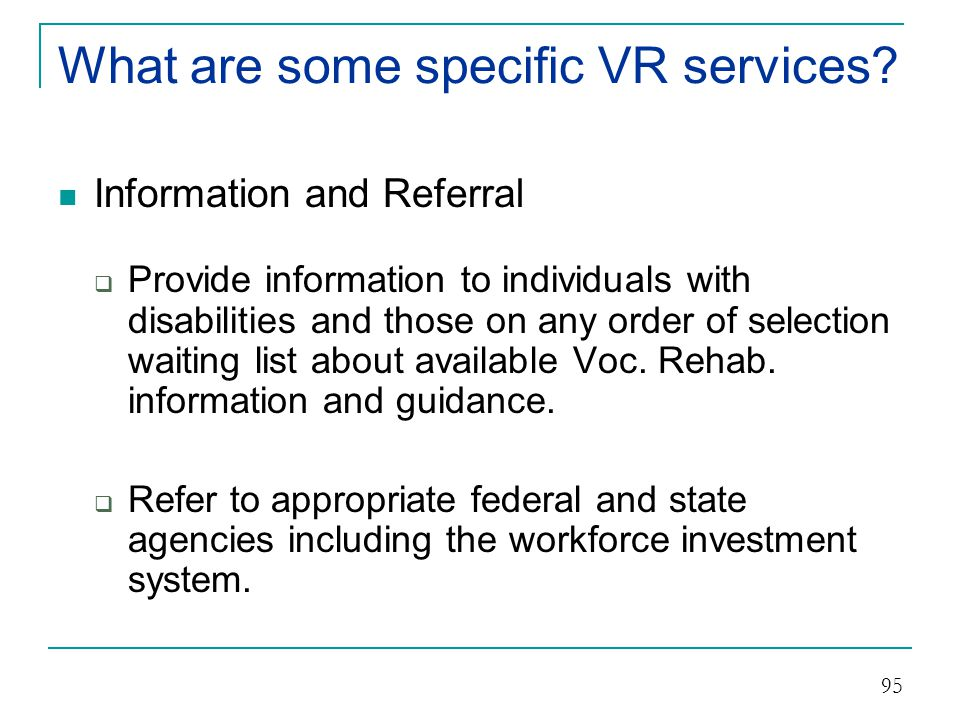 What are some specific VR services