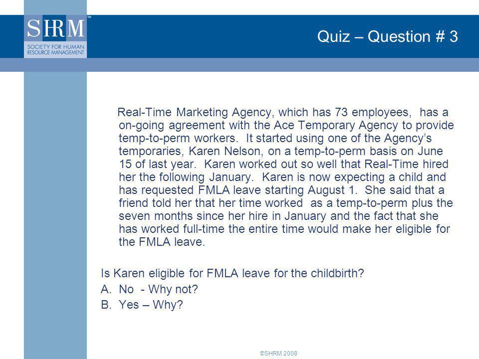 Quiz – Question # 3