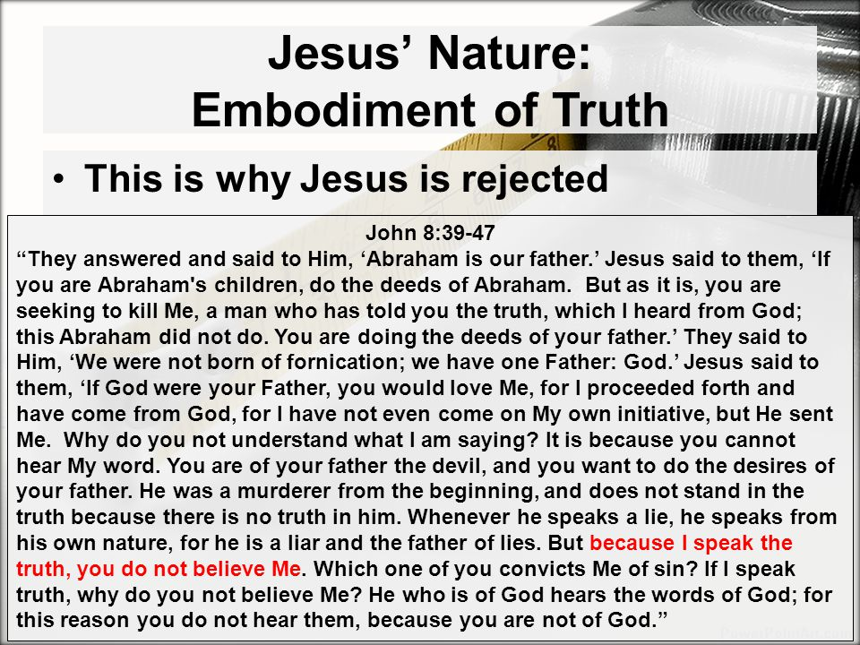 Jesus' Nature: Embodiment of Truth